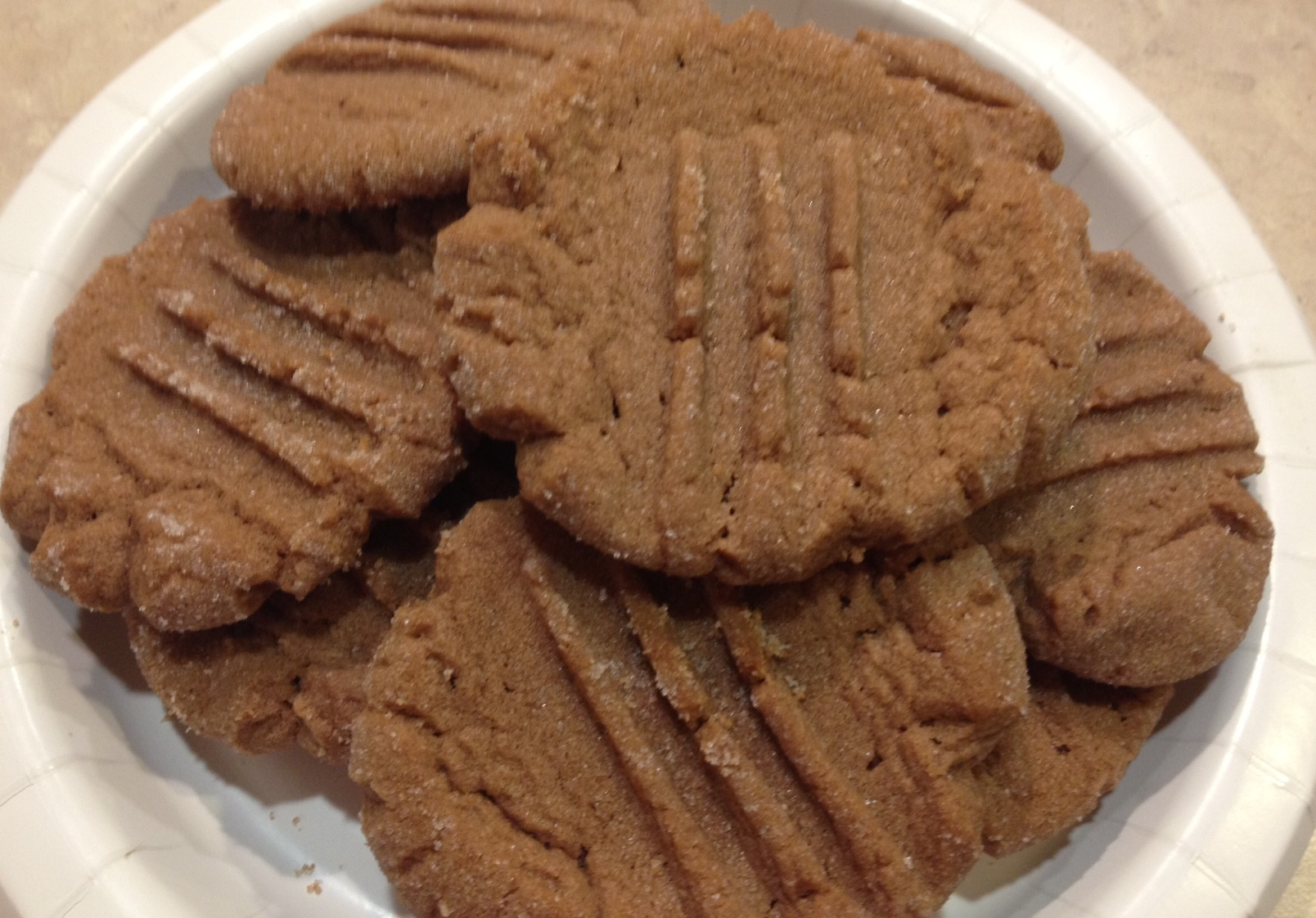 A different take on peanut butter cookies...add nutella!