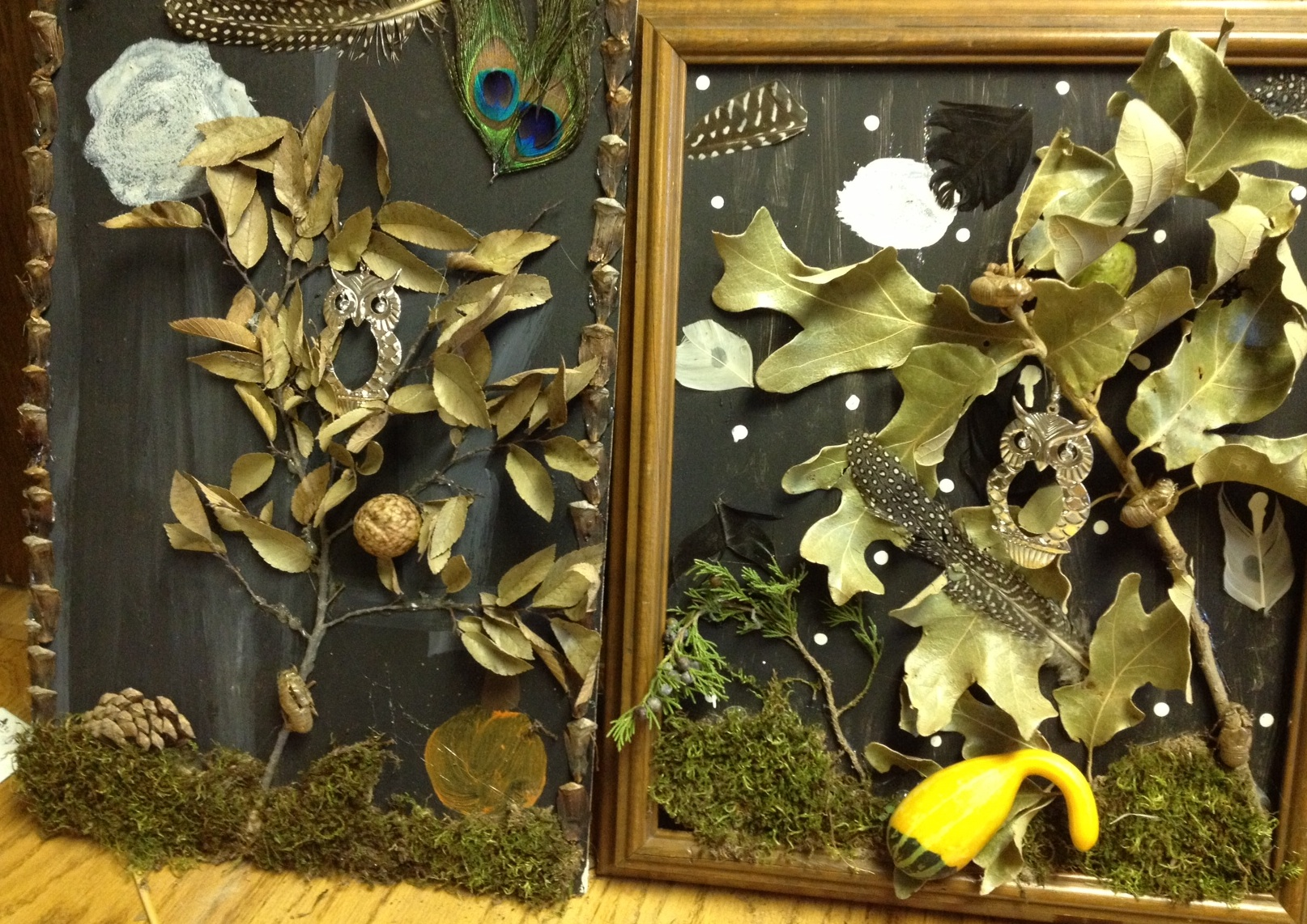 Create a nature collage out of things you find outside.