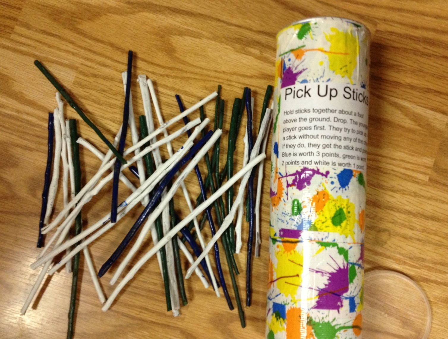 Make your own Pick Up Sticks game.